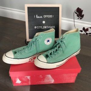 Converse All Star Mens sz 11.5 Jade Grn Hi-Tops